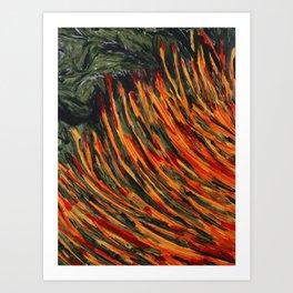 African Orange Grass Art Print