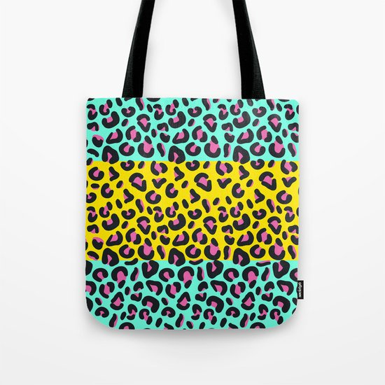 Abstract Leopard Pattern Tote Bag