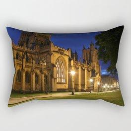Bristol Cathedral at night Rectangular Pillow