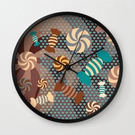 Chocolate Sugar Crush Wall Clock