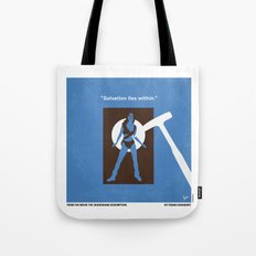 No246 My THE SHAWSHANK REDEMPTION minimal movie poster Tote Bag