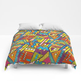 Colorful Geometric African Tribal Pattern Comforters
