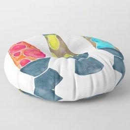 Retro Vibes – Primary Palette Floor Pillow