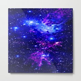 Fox Fur Nebula Galaxy blue purple Metal Print