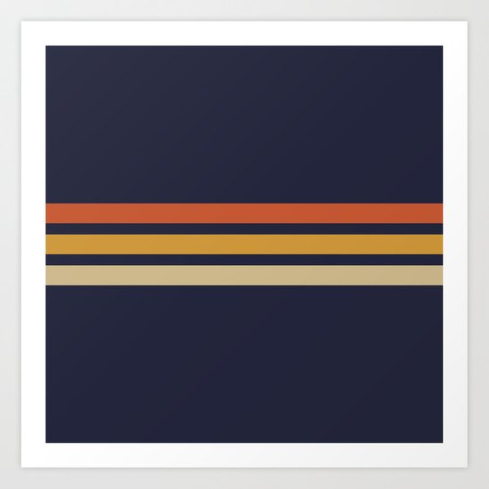 Vintage Retro Stripes by alphaomega