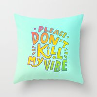 kendrick lamar Throw Pillows featuring Kendrick Lamar for Kids by Josh LaFayette