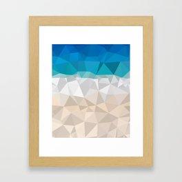 Low poly beach Framed Art Print