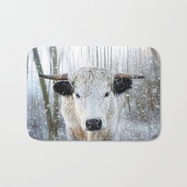 WhitePark Cow Bath Mat