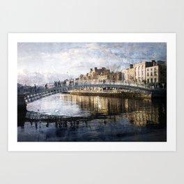 Ha'PPeny Bridge Art Print