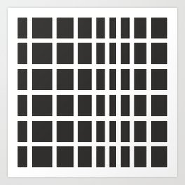 The Modern Square - Stone Gray Art Print