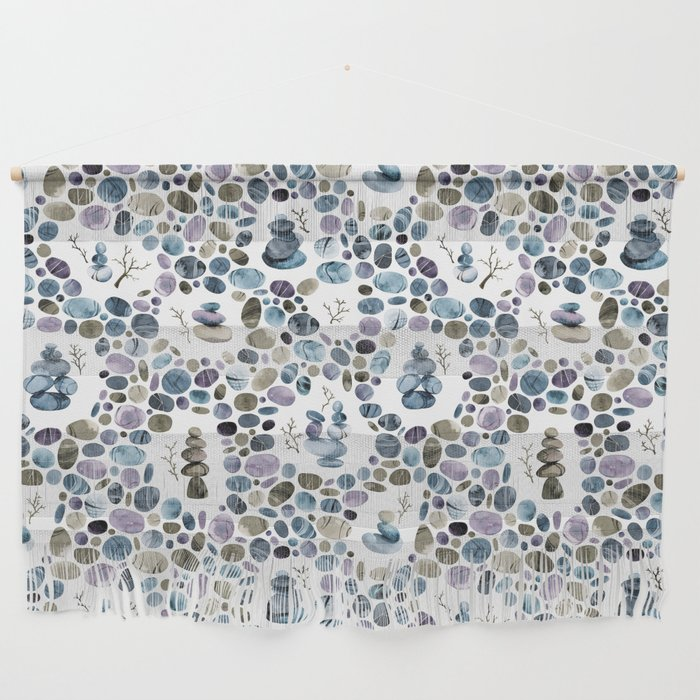 Wishing stones and cairns Wall Hanging