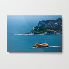Manly Ferry & Hornby Lighthouse, Sydney Harbour Metal Print
