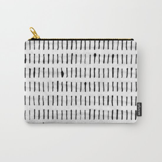 Black Ink Woodstock Pattern on White Carry-All Pouch