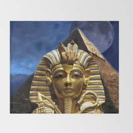 King Tut and Pyramid Throw Blanket