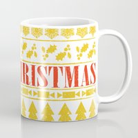 merry christmas Mugs featuring Christmas Merry! by Fimbis