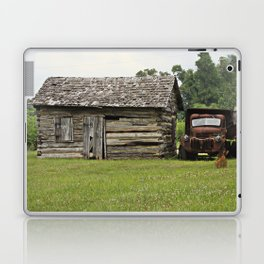 Old truck and cabin Laptop & iPad Skin