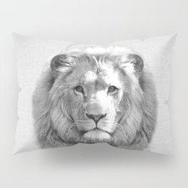 Lion - Black & White Pillow Sham