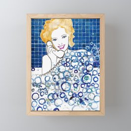 Bubble Bath Framed Mini Art Print