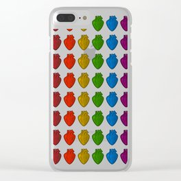 Gay Hearts Clear iPhone Case