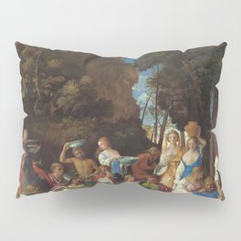 The Feast of the Gods Painting by Giovanni Bellini and Titian Pillow Sham