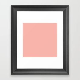 SOLID CORAL/PEACH Framed Art Print
