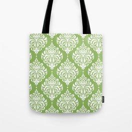 Green Damask Tote Bag