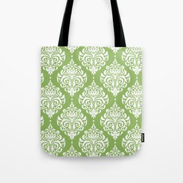 Green Damask Tote Bag