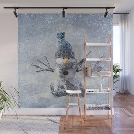 Cute snowman frozen freeze Wall Mural