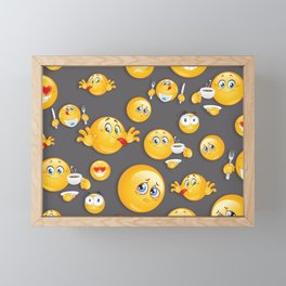 Emoji Pattern 5 Framed Mini Art Print