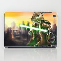 jedi iPad Cases featuring Gerbil Jedi by Wesley S Abney