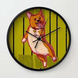 Happy Corgi Wall Clock