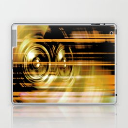 Gold music speakers Laptop & iPad Skin