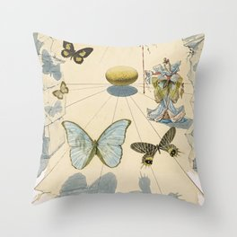 Salvador Dali Allegorie de Soie Throw Pillow