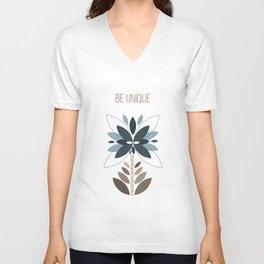 Be unique - Retro flowers Unisex V-Neck