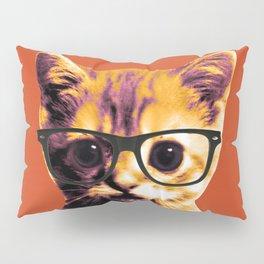 Pop Art Cat Orange Pillow Sham
