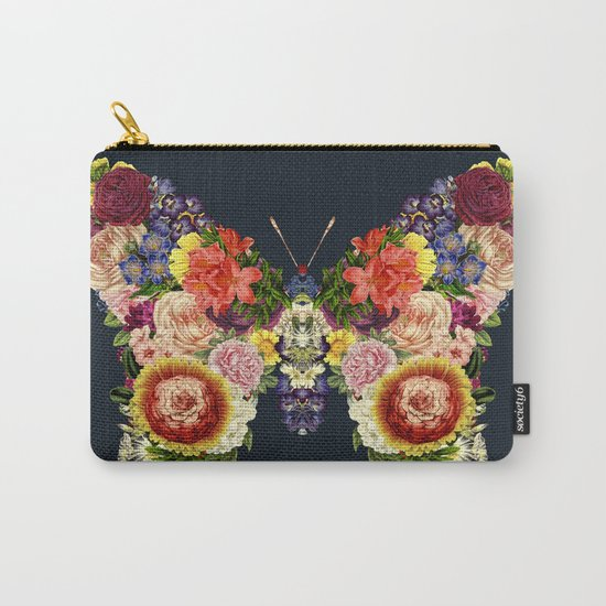 Spring Butterfly Floral Carry-All Pouch