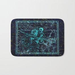 Aquarius, Constellation map, Zodiac, Sign sky, Stars, Universe, astrology, astrological Bath Mat