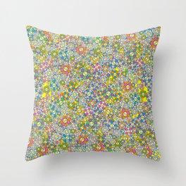 SUPER FLOWER POWER Throw Pillow