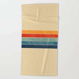 retro stripes Beach Towel