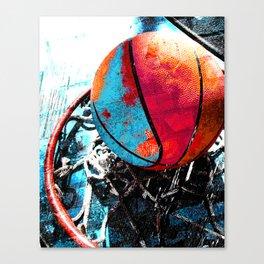 Basketball art swoosh vs 19 Canvas Print