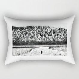 Badwater Basins's Salt Flats Rectangular Pillow