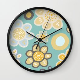 Big and Bold Modern Floral No. 5 Wall Clock