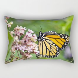 Colorful Monarch Butterfly Rectangular Pillow