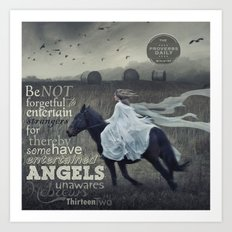 Angels Unaware Art Print