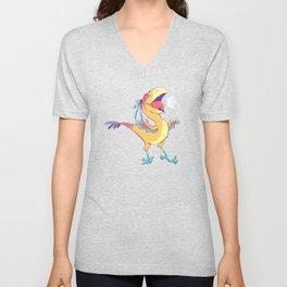 Colorful Caudipteryx Unisex V-Neck