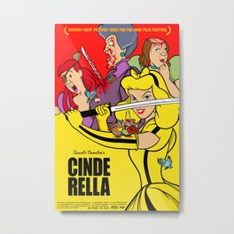Pop Art Mashup: Kill Bill - Cinderella Metal Print