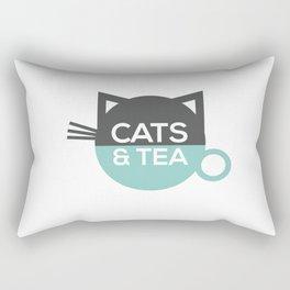 Cats & Tea Rectangular Pillow