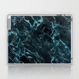 Black & Teal Color Marble Laptop & iPad Skin