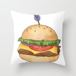 B is for Burger Throw Pillow