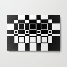 Chic Checkerboard Metal Print